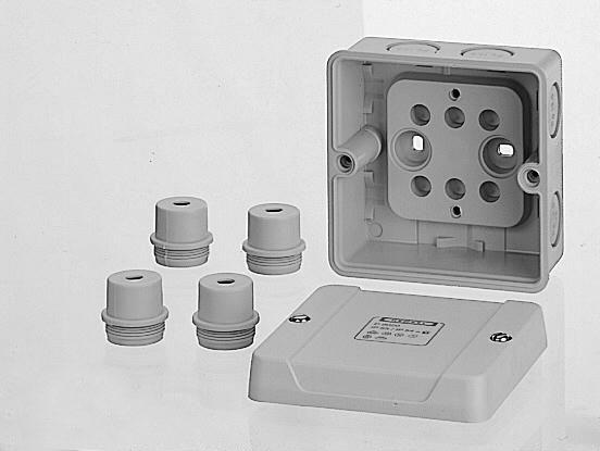 D 9020 (6000000) коробка ответвительная ip65, размер 88х88х53, в комплекте с 4 сальниками esm 20